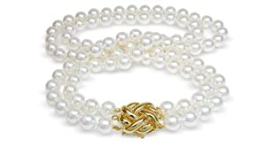 9.5x10mm AAA Quality Japanese Akoya cultured pearl necklace 36