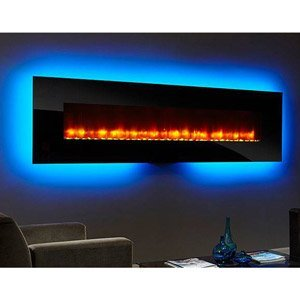 Simplifire Simplifire Modern 94 In. Linear Wall Mount Electric Fireplace - Black