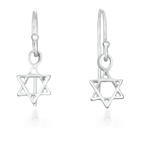 A Sterling Silver 'Star of David' Earring.