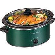Portable Slow Cooker Green 5 Quart by Hamilton Beach Brands, Inc.