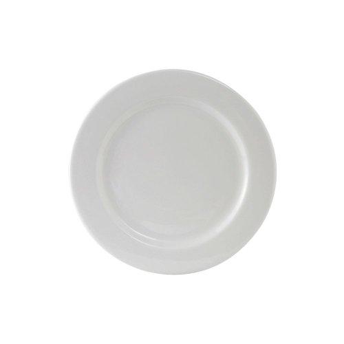 "Tuxton Ala-090 9"" Rolled Edge Wide Rim Alaska White Plate - 24 / Cs"