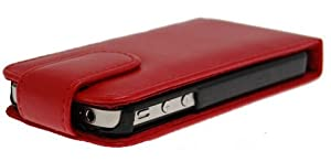 Accessory Village Red Luxury Executive Protective Flip Case /Armour / Skin / Cover / Shell For Apple iPhone 4 4G 4HD