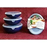Hutzler Prep Serve & Store 3 Piece Nesting Bowl Set