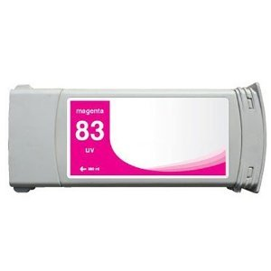 Remanufactured HP 83 (C4942A) Ink Cartridge for HP Designjet 5000 / 5000ps UV / 5500UV, Pigment Magenta
