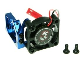 3Racing #3R/M18T-04/Bu Aluminium Motor Mount W/ Cooling Fan For M18T For Xray M18T