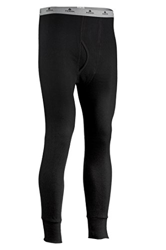Indera Men's Icetex Cotton Outside/Fleeced Silvadur Inside Pant, Black, Medium (Arctex Thermal Underwear compare prices)
