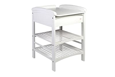 Troll Nicole Changing Table with Drawer (White) by Troll