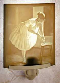 Dress Rehearsal Porcelain Lithophane Night Light