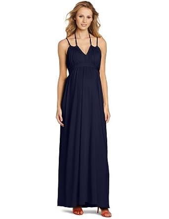 MORE of me Women's Maternity Olivia Classic Maxi Dress, Navy, Small