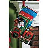 Bucilla 18-Inch Christmas Stocking Felt Applique Kit, Candy Express image