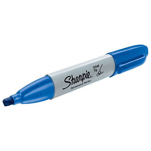 sharpie permanent markers broad chisel tip 12 pack blue 38203 800011406231. Black Bedroom Furniture Sets. Home Design Ideas