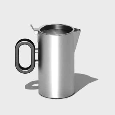 Steelforme Brushed 9Oz Stainless Steel Creamer front-1054283