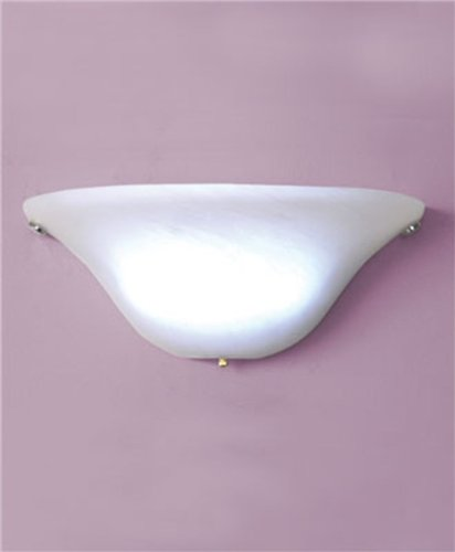 Battery Powered Half Moon White Wall Sconce