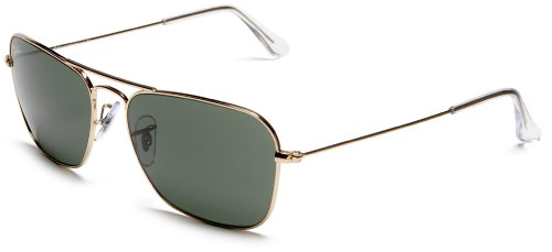 Ray-Ban RB3136 Caravan Sunglasses 55 mm, Non-Polarized, Arista/G-15XLT