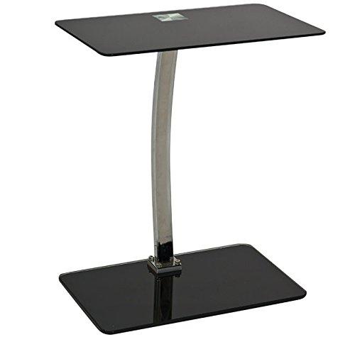 Letti e Mobili - Tavolino Ender nero 48x32cm