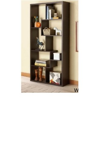 This Is a Walnut Colored Wood Bookcase or Display Cabinets. Perfect Display Case for Sports Fans and Collectors. This Wooden Bookshelf Is Perfect Piece of Office Furniture. If You Need a Book Case Do Not Hesitate to Buy This One. (Expresso Wood Bookshelves compare prices)