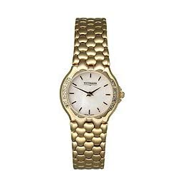 Wittnauer Ladies Goldtone Watch with Diamond Bezel 12R04