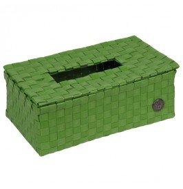 Luzzi - Scatola di fazzoletti, verde, Altezza 9 Larghezza 25 Profondità 15