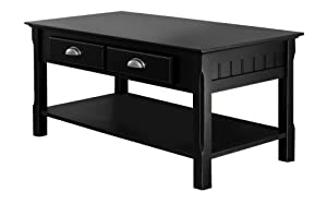 Winsome Wood Black Coffee Table from Winsome Wood