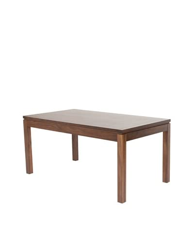 Urban Spaces Hudson Wooden Table, Dark Walnut