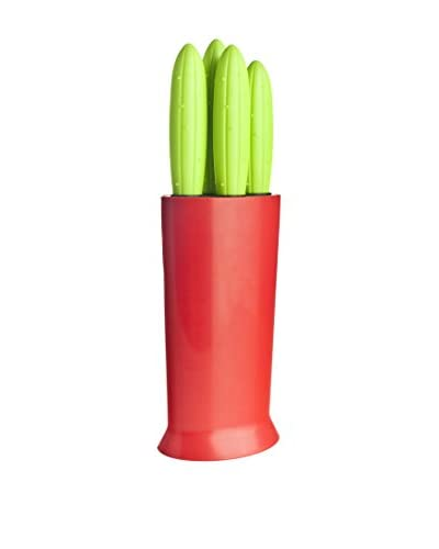 VIGAR Set Cuchillo 4 Uds. Verde / Rojo