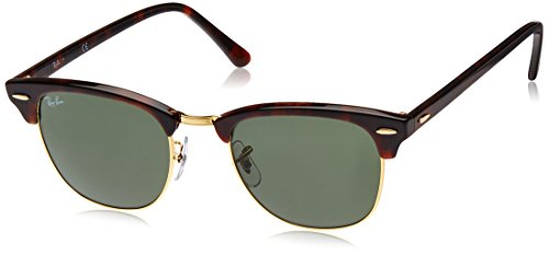 Ray-Ban - Occhiali da sole Clubmaster Metallic RB 3016 Wayfarer, Brown (Braun RB 3016 W0366)