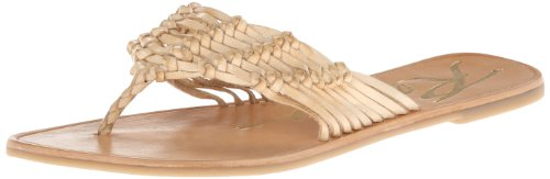 Brown Leather Flip Flops For Women front-698703