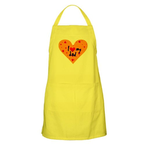 Cafepress I Love My Dad BBQ Apron - Standard