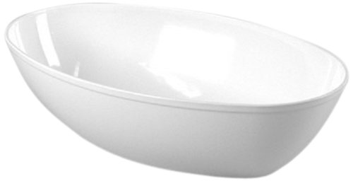 CaterLine Luau 64-Ounce Heavyweight Plastic Oval Serving Bowl, White (50-Count) (Super Bowl Serving Dishes compare prices)