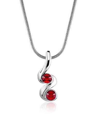 Absolute Crystals Set catenina e pendente 2S Mini Xillion Rosso
