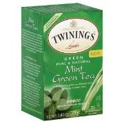 Twinings Of London Mint Green Tea (Box Of 20)