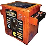 Pac-Man's Arcade Party Cocktail Table Game - Wood Grain Cabinet