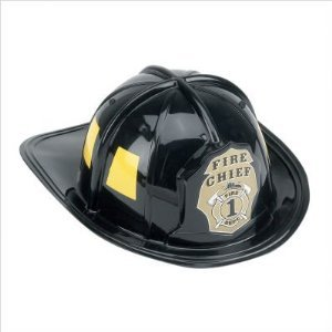 Aeromax Jr. Fire Fighter Helmet, Black, Adjustable Youth Size