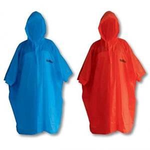 BRAVO Poncho rosso protezione pioggia PVC copri zaino montagna mantella mantellina