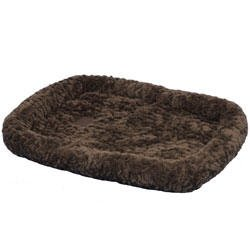 """Snoozzy Cozy Crate Donut Dog Bed Size: Extra Small (18"""" L X 14"""" W), Color: Chocolate front-1017862"""