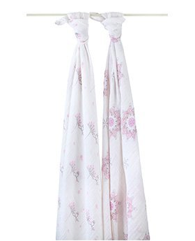 Aden and Anias Soft Muslin Cotton For the Birds Swaddle 2 Pack - 1