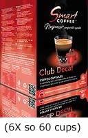 Smart Coffee Club Nespresso® Compatible Coffee Pods 6 x 10 Decaf