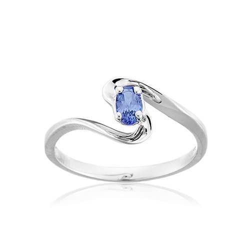Asher Natural Tanzanite Bypass Ring