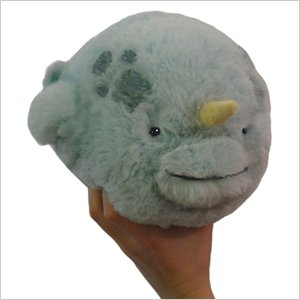 "Mini Squishable Narwhal 7"" Plush Toy"