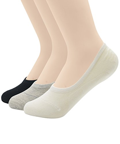 Zando Women's Casual Anti Slip Low Cut Solid Color Flat Ankle Line Socks 3 Pairs 2 S (Mesh Side Scrubs compare prices)