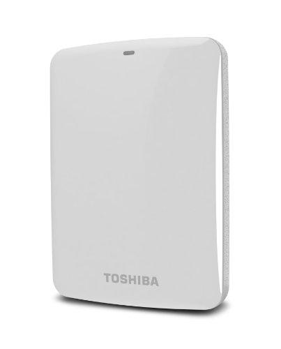 Toshiba Canvio Connect 1TB Portable Hard Drive, White