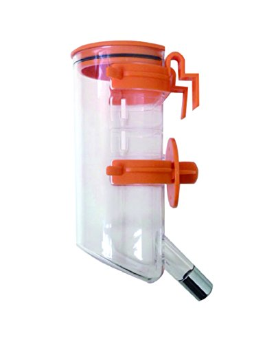 Choco Nose H220 Classic Opened-top Water Feeder with Hook, Pet Water Dispenser, Water Bottle for Small-sized Dog, Cat, Medium-sized Rabbit, No Drip, 13.5 Oz. Nozzle Diameter: 16mm (Rabbit Dispenser compare prices)