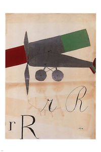 LanLan rRrR ART vintage poster BRUNO MUNARI italy 1927 24X36 airplane abstract
