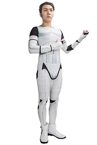 Stormtrooper Costume Onesie Cosplay Jumpsuit Printed Adult Bodysuit Custom Made 3XL
