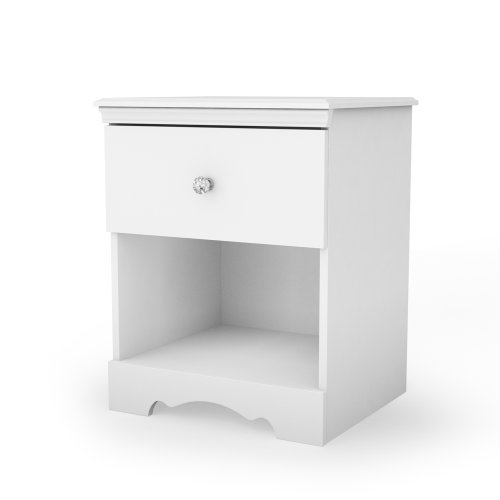 South Shore Furniture, Crystal Collection, Night Table, Pure White