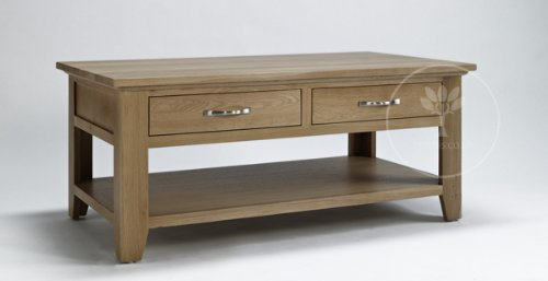 Ametis Cambridge Oak Coffee Table With Drawer