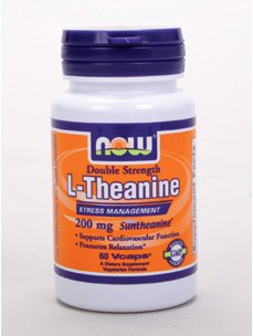 Now Foods L-Theanine, Double Strength 200mg 60 vcaps