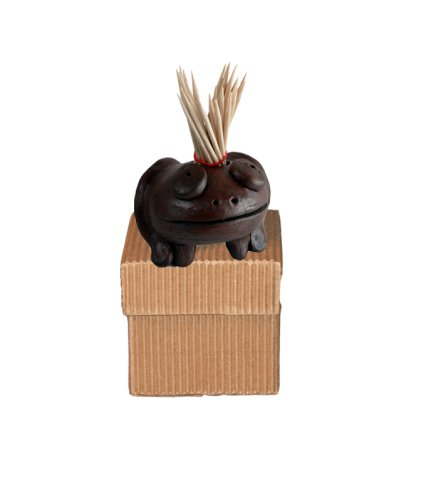 Pomaireware C060441 Smiling Frog Toothpick Holder