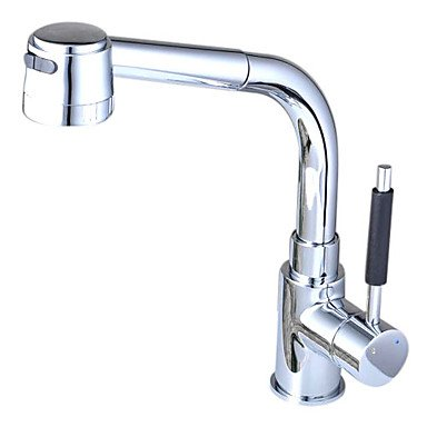 Top product brass pull down kitchen faucet with color changing led light spring power tools - Kitchen faucet with led light ...