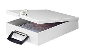 Wedo 1021537 Dokumenten Kassette A4 35,5 x 26,0 x 6,7 cm,lichtgrau